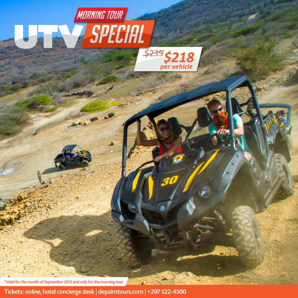 Aruba's most exciting UTV off-road tour