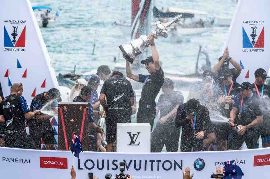 Emirates Team New Zealand win the 35th America's Cup beating defending champions Team USA