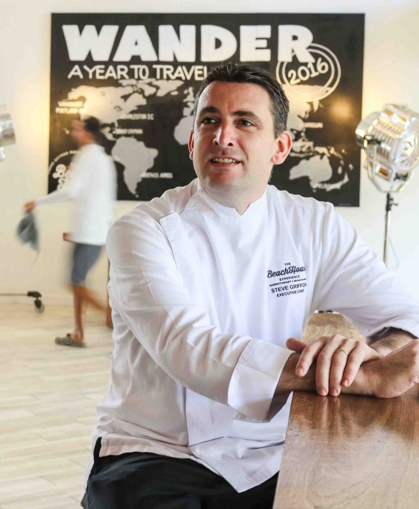 5 minutes with…Steve Griffon, the executive chef at the Grand Cayman Marriott Beach Resort