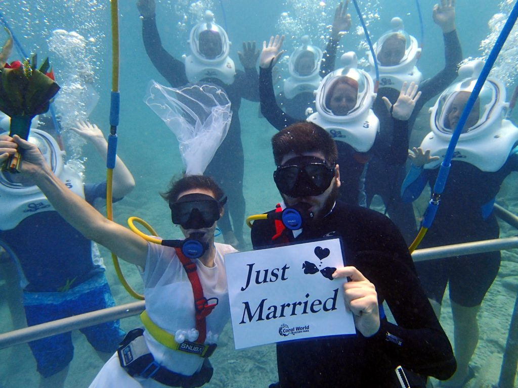 Coral World on St. Thomas in the U.S.V.I, celebrates love with new dive wedding and vow renewal packages