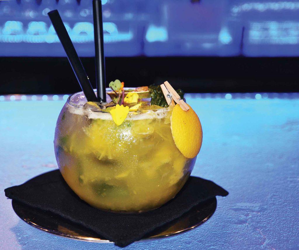 P118 Blue Cilantro cocktails