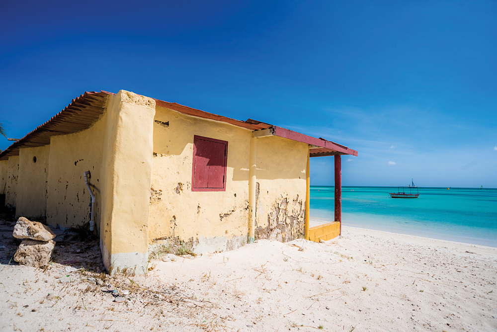 Fisherman's Hut at Hadicurari Beach - best beaches on Aruba
