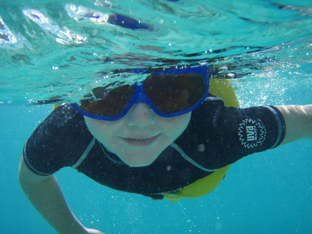 snorkelling on Sint Maarten