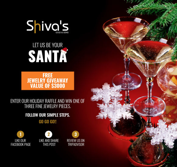 SHIVA'S ON ARUBA & ST. MAARTEN HOLIDAY RAFFLE – FREE JEWELRY GIVEAWAY