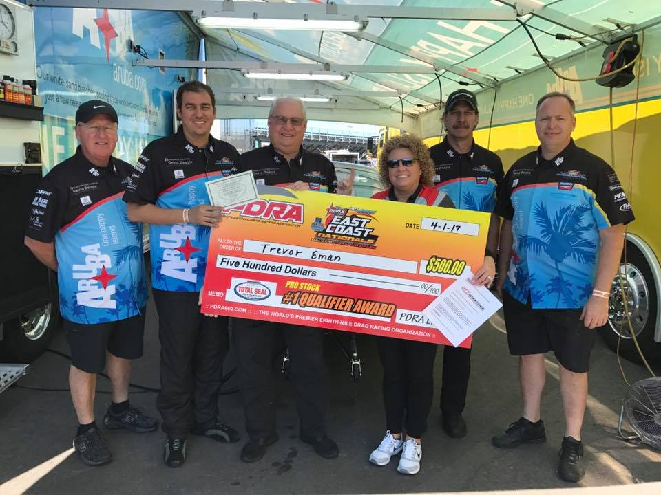 World-class drag racers Team Aruba speed to the top spot