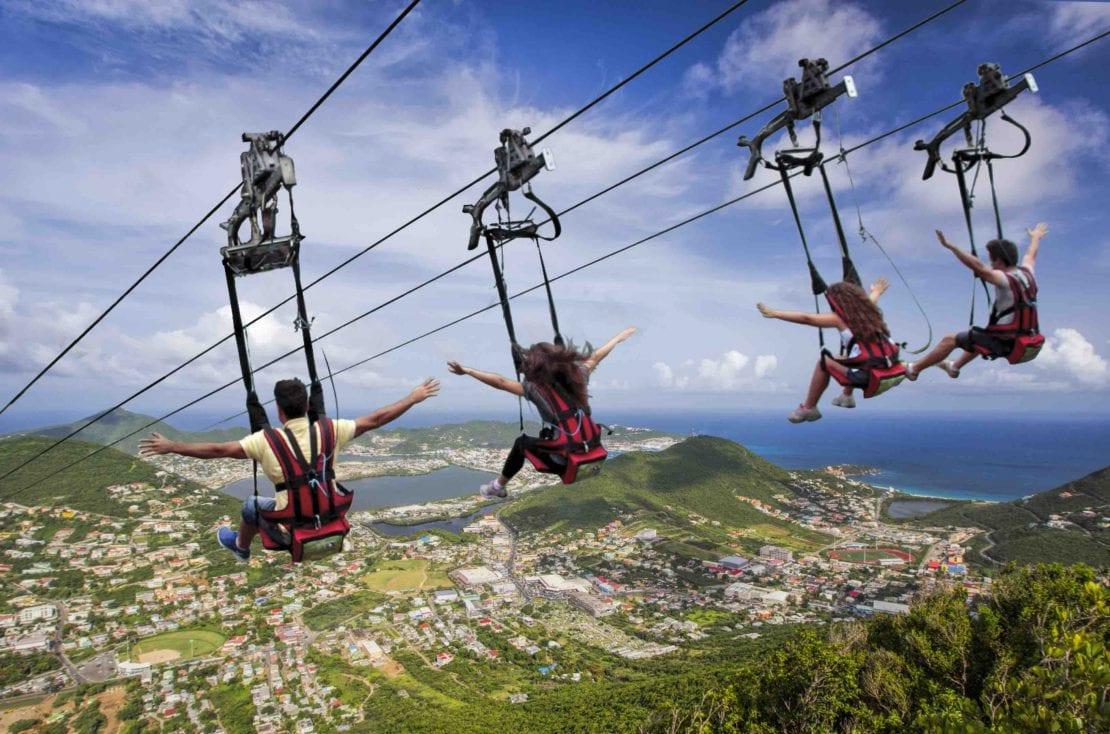 St Maarten St Martin zip line