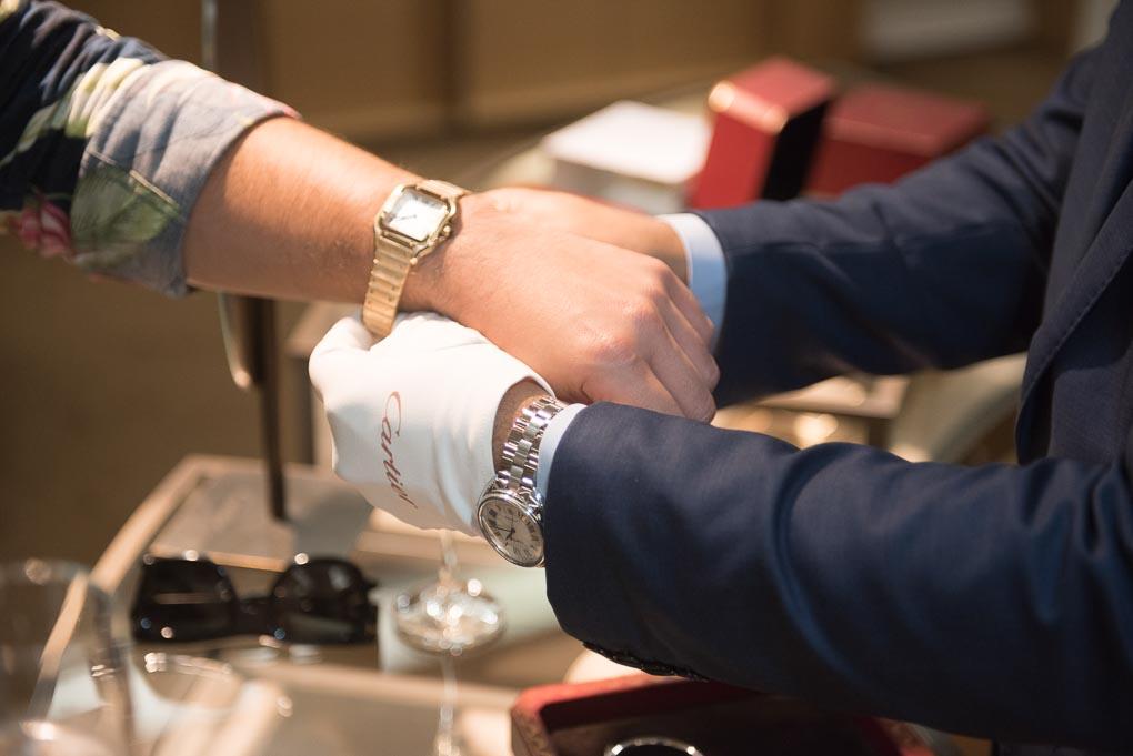 Duty free Cartier watch at Gandelman Aruba