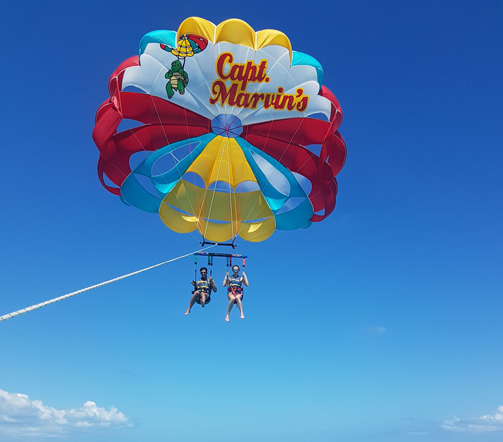 Parasailing in Turks and Caicos