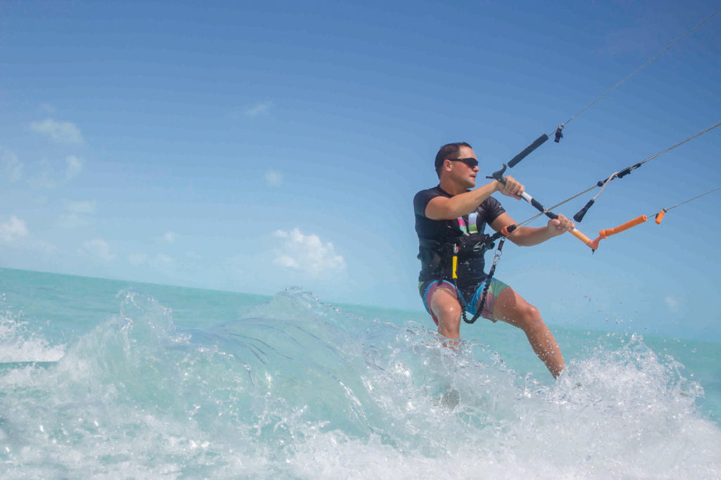 Kitesurfing in Turks and Caicos