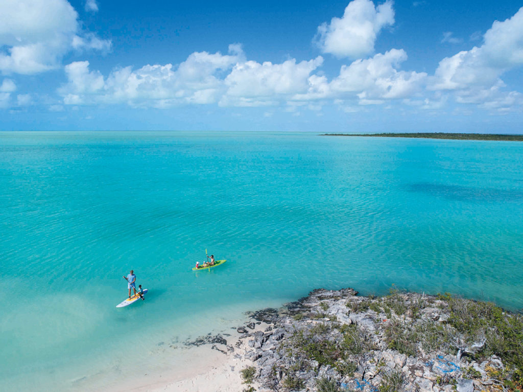 Paddleboarding and kayaking in Turks and Caicos