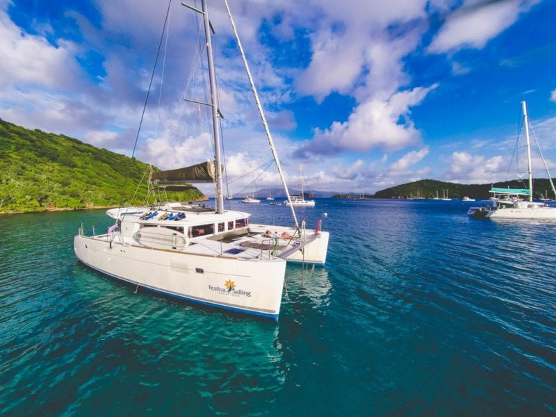 festiva sailing British Virgin Islands