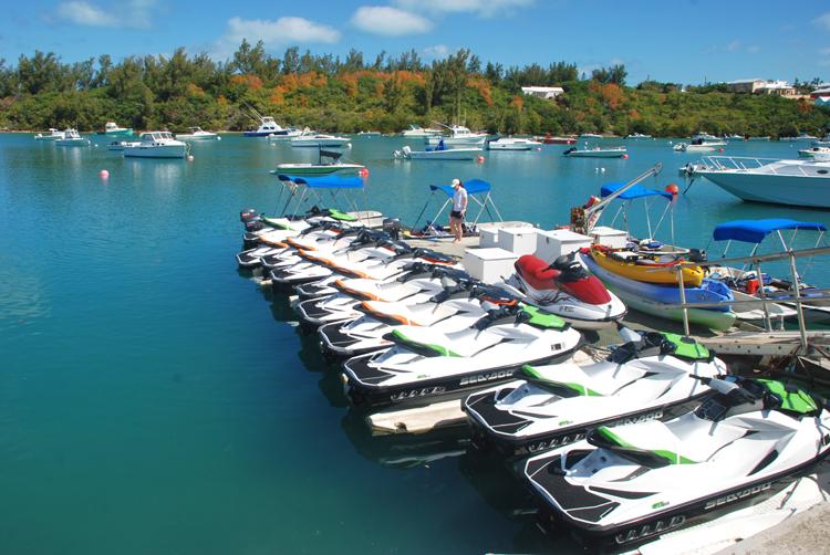Jet skis on Bermuda