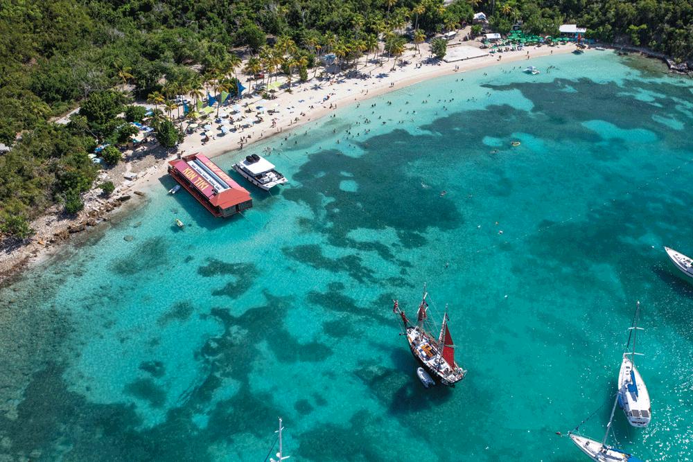Honeymoon Beach Water Island US Virgin Islands