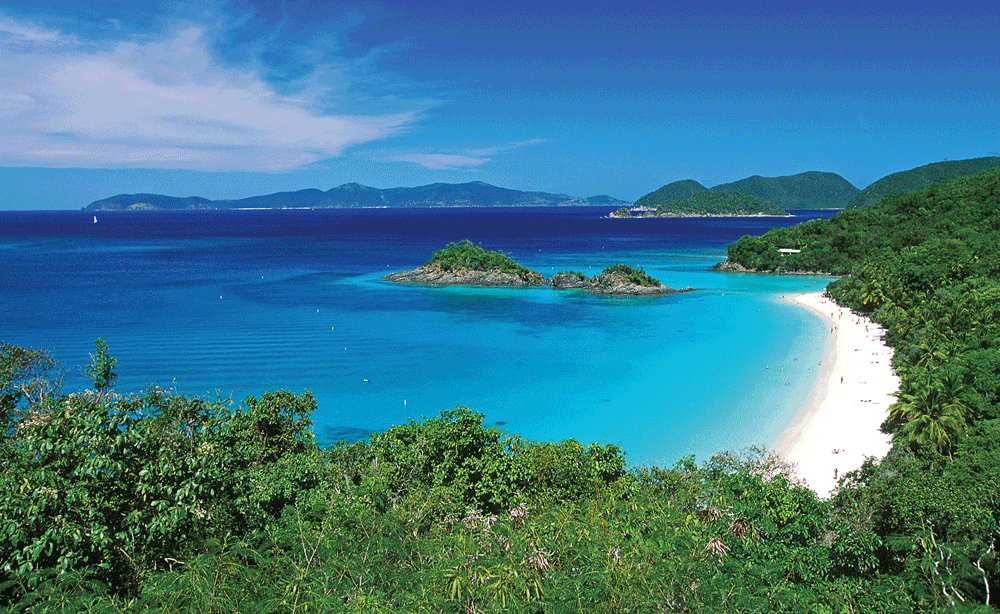 Trunk Bay St John | places to visit in the U.S. Virgin Islands