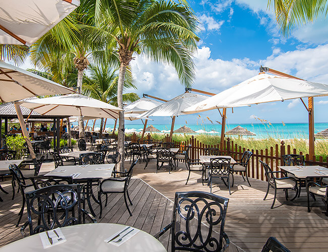 The Deck Restaurant at Seven Grace Bay Turks and Caicos