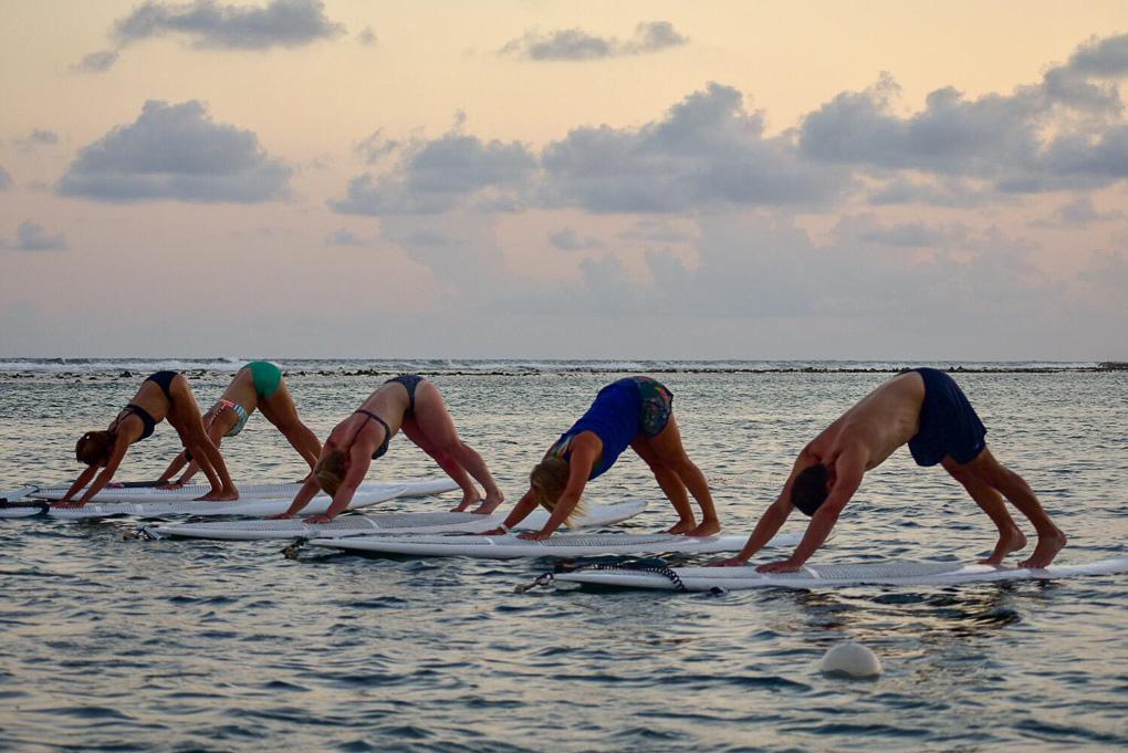 Stnad Up Paddleboarding Yoga