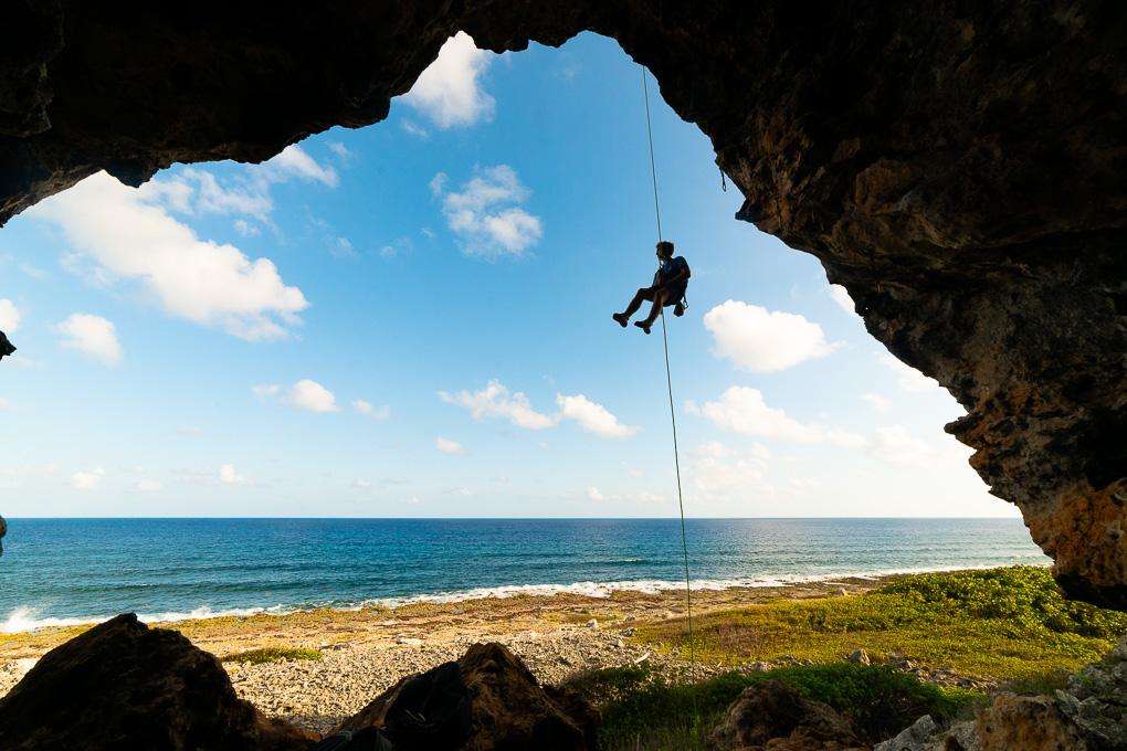 Rock climbing Cayman Brac